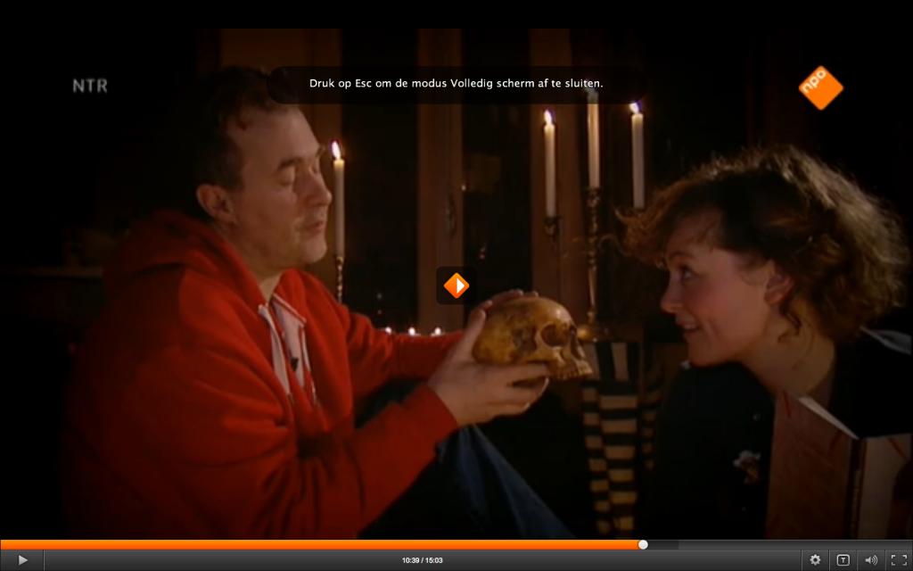 Daan de Vries met schedel