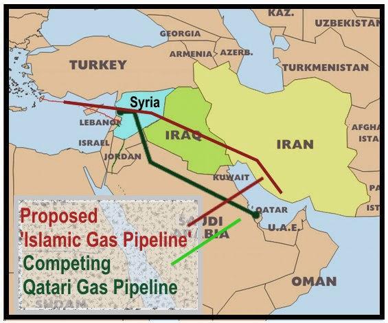 Iran Syria Qatar Gas Pipelines